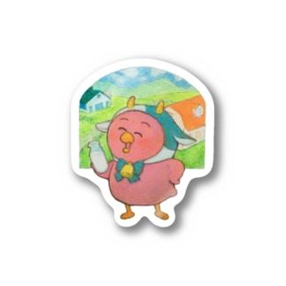 牛コマメ Stickers