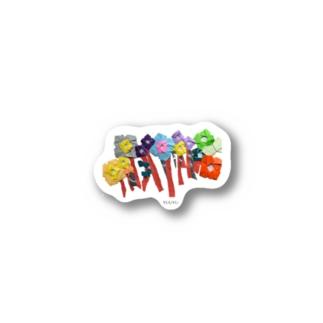 ORIGAMI ART(お花) Stickers