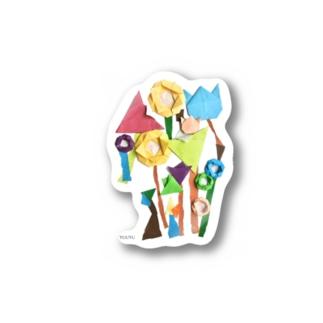 ORIGAMI ART(お花2) Stickers