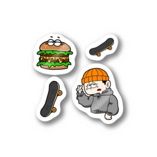 SKATER BOY STICKER Stickers