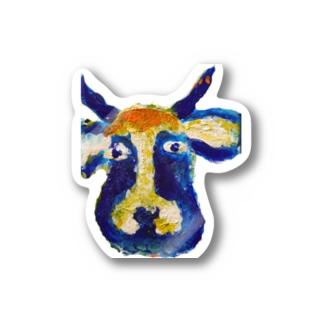 牛のくんステッカー Stickers