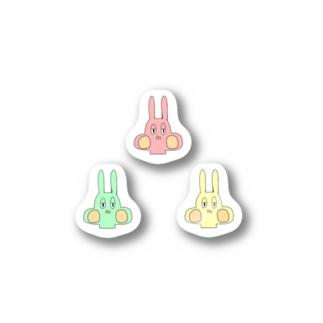 ウサギの兄貴ステッカ Stickers