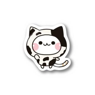 DECORの気づかいのできるネコ 牛さんver. Stickers