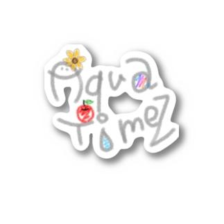 tA_rintAのAqua Timez 自作ロゴ Stickers