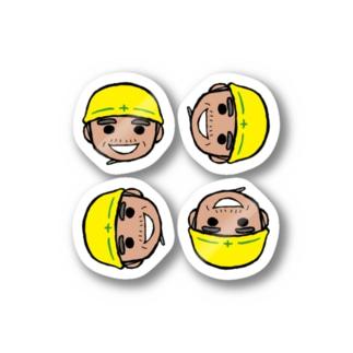 現場のとっちゃ(小さめなイケメン) Stickers