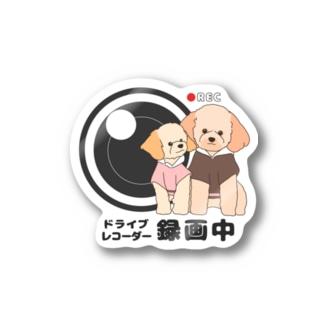 2匹のドライブレコーダーわんこ Stickers