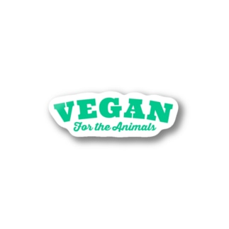 VEGAN for the Animals Stickers
