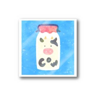 牛乳瓶になったうしくん Stickers