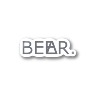 GRAY LOGO sticker Stickers