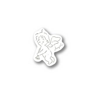 tiny angel Stickers