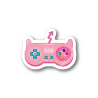 悪魔なコントローラー(ピンク) Stickers