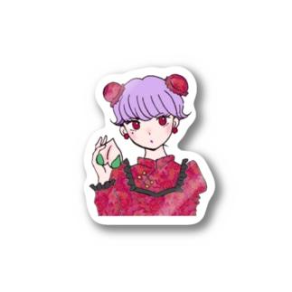 レトロ・チャイナちゃん Stickers