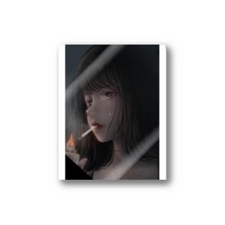 煙草を吸う彼女 Stickers