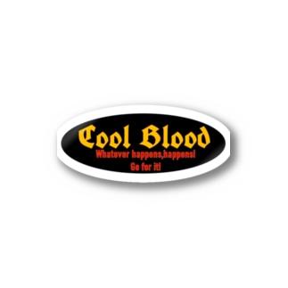 Coolロゴステッカー 黒 Stickers