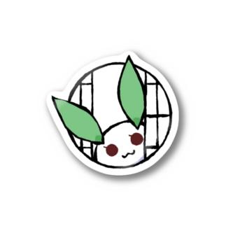 まる雪うさぎ-丸窓- Stickers