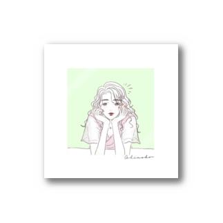 緑・恋愛運 Stickers