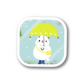 お天気雨☂️ 文鳥アップversion Stickers