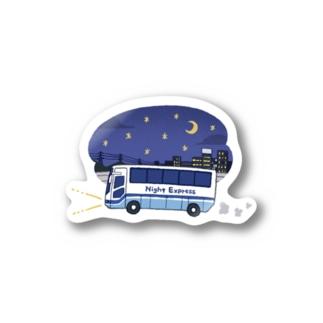 夜行バスステッカー Sticker