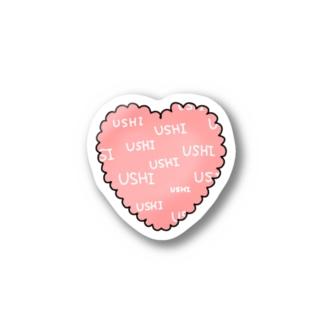 USHIハート Stickers