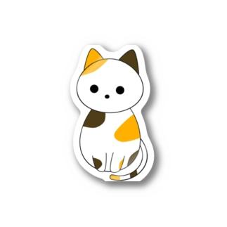 斜め下を見る三毛猫 Stickers