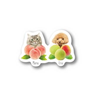 Momo&Ume Stickers