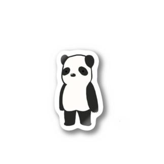 直立パンダ Stickers