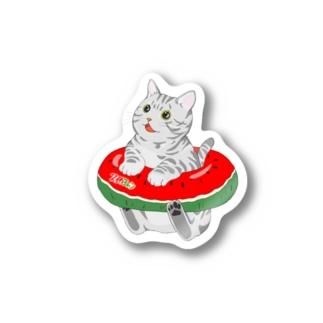 うきわがぷかぷか〜♪ Stickers