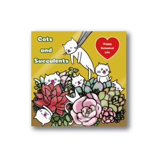 Cats & Succulents Stickers