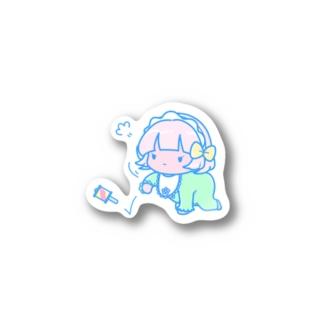 ライチステッカー(あかちゃん) Stickers