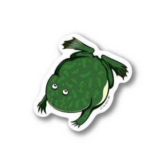 【大】すいすいバジェットガエルステッカー Stickers