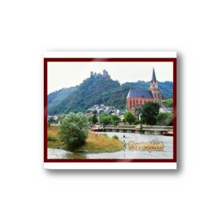 FUCHSGOLDのドイツ:ライン川とシェーンブルク城 Germany: Rhein and Schönburg Castle Stickers