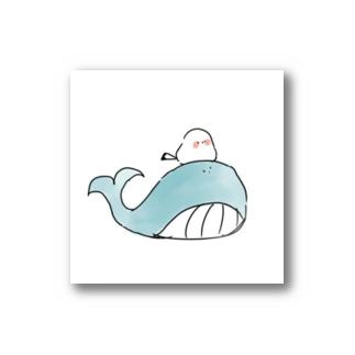 クジラとシマエナガ Stickers