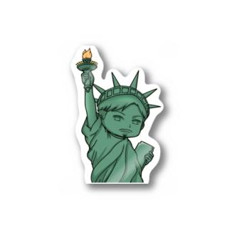 自由の神ステッカー‼️ Stickers