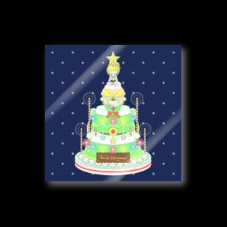 メルヘンダイバーのメレンゲドールの王子様とクリスマスケーキB Stickers