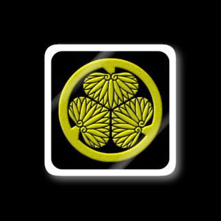 tomo-miseのkamon 三つ葉葵 (徳川家) (ステッカー) Stickers