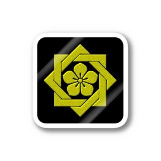 kamon 組合い角に桔梗(坂本龍馬)(ステッカー) Stickers