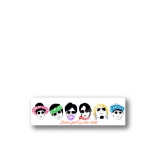 全員集合ロゴ1 Stickers