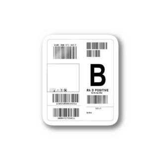 輸血パックステッカー1 type B Sticker