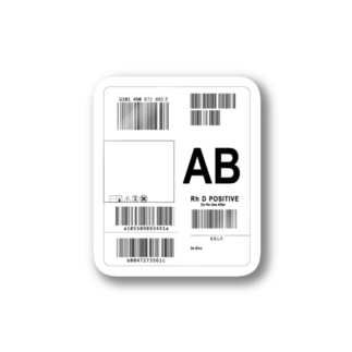 輸血パックステッカー1 type AB Sticker