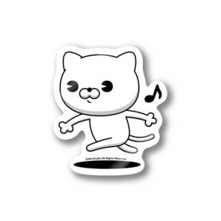 にゃんこMAX(白猫) Stickers