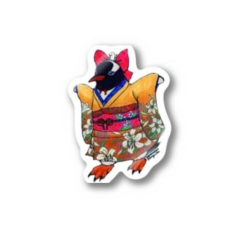 着物ぺんぎん―ジェンツーの歩く(走る)姿は百合の花— Stickers