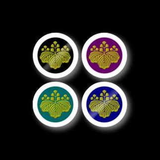 tomo-miseのkamon 十大紋-桐紋 (五三桐 4 (ステッカー) Stickers