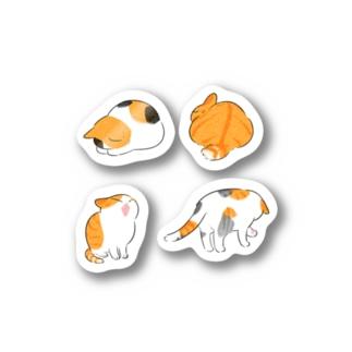 ふじひとの猫オレンジ Stickers