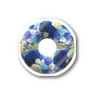 ブルーローズリース(青い薔薇のリース) Stickers