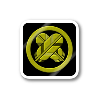 kamon 十大紋-鷹の羽紋 (丸に違い鷹の羽)(ステッカー) Stickers