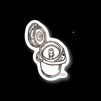 バリバリクエスチョンの湯沸かしポットはんこ Stickers