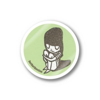 佇みガールはんこ Stickers