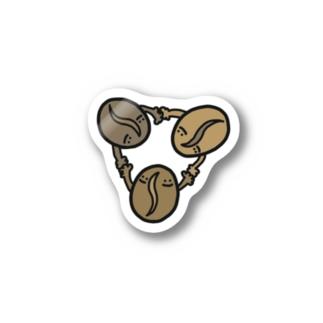 コーヒー豆のこひ豆さん Stickers