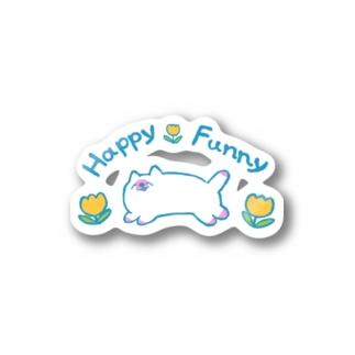 HappyFunnyねこちゃん Stickers