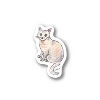 100nyans085.hijikicat Stickers